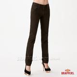 (女) BRAPPERS Boy Firend Jeans 系列-女用直統反折褲-深綠