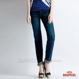 (女) BRAPPERS Boy Firend Jeans 系列-女用彈性直統褲-深藍