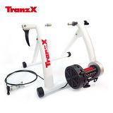 Tranz X JD-118磁阻式訓練台 白色/城市綠洲(腳踏車.健身車.訓練台.立車架.自行車訓練器)