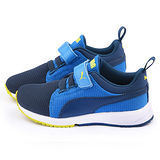 PUMA 中大童 輕量透氣運動鞋358908-13-藍
