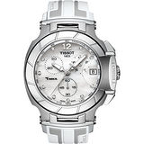 TISSOT T-RACE 真鑽計時腕錶-珍珠貝/45mm T0484171711600