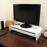 【環球】寬58.6公分-(鐵板製)桌上型-抽屜-螢幕架/置物架(二色可選)