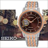 SEIKO Presage 開芯系列玫瑰金時尚機械女用腕錶-34mm/4R38-01A0P(SSA852J1)