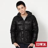 EDWIN 迷彩拼接羽絨外套-男-黑色