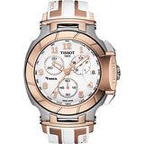 TISSOT T-RACE 極速計時腕錶-玫瑰金/45mm T0484172701200