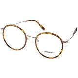 Go-Getter眼鏡 復古圓框款(黃琥珀-銀) #GO3002 C06