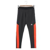 Adidas 女 緊身長褲-橘黑-AC4649