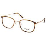 Go-Getter眼鏡 簡約百搭款(黃琥珀-金) #GO3003 C05