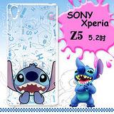 迪士尼授權正版SONY Xperia Z5 E6653 5.2吋 大頭背景系列透明軟式手機殼(摀嘴史迪奇)