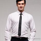 ROBERTA諾貝達 台灣製 商務必備 舒適寬鬆條紋長袖襯衫 RDB76-92白色