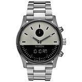 NIXON  DUO  宇宙力量雙顯時腕錶-銀