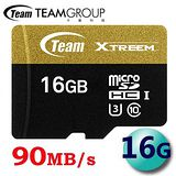 Team 十銓 16GB 90MB/s microSDHC TF UHS-I U3 C10 記憶卡