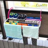 [Conalife]可摺疊簡便型多功能曬衣架(2入) 顏色隨機
