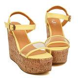 《JOYCE》個性糖果色透明厚底楔型鞋(共3色)