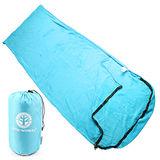 TreeWalker 珊瑚絨睡袋-天藍