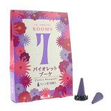 【任選】Nippon Kodo 日本香堂 ROOMY 7 系列錐香18個(紫羅蘭)