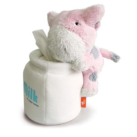 Luft Bubu牛圓桶衛生紙座-粉紅 -friDay購物 x GoHappy