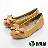 W&M (女)大方蝴蝶結娃娃鞋平底女鞋-黃