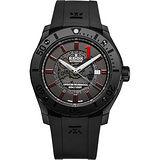 EDOX Class1 Offshore Professional競速機械錶-黑/43mm E80088.37N.NRO2