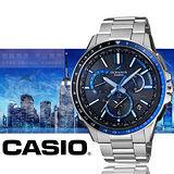 CASIO OCEANUSGPS混合電波接收系統男用腕錶-OCW-G1100-1A