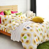 美夢元素 風鈴花海 天鵝絨雙人加大四件式 全鋪棉兩用被床包組
