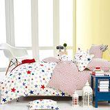 Pure One 星星迷情-單人極致純棉三件式床包被套組