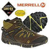 【美國 MERRELL】男新款 ALLOUT BLAZE MID GORE-TEX 多功能中筒登山健走鞋/郊山鞋 咖啡 32765