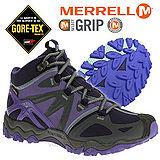 【美國 MERRELL】女新款 Grossbow Sport Mid Gore-Tex專業防水透氣中筒登山健行鞋 藍紫色 ML32512