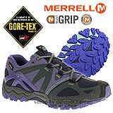 【美國 MERRELL】女新款 Grassbow Sport Gore-Tex 專業防水透氣登山健行鞋 藍紫色 ML32518