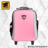 【UNME】減壓省力-拉桿書包 附包包雨衣(素面粉3308A)