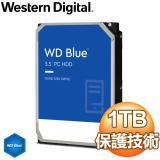 WD 威騰 Blue 藍標 1TB 3.5吋 7200轉 64MB快取 SATA3藍標硬碟(WD10EZEX)