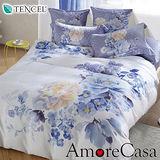 【AmoreCasa】夏沐之約 100%TENCEL天絲加大兩用被床包四件組