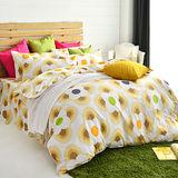 美夢元素 天鵝絨雙人四件式 全鋪棉兩用被套床罩組 風鈴花海