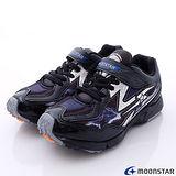 日本月星競速童鞋-閃電爆發競速款(SSJ6436黑20cm-24cm)