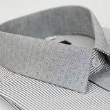 【金安德森】灰色條紋變化領窄版長袖襯衫