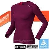 【瑞士 ODLO】X-WARM Effect《背部加強》保暖升級 女機能型銀離子超保暖圓領內衣.長袖排汗衣.保暖衣.衛生衣.透氣/155161 紫紅