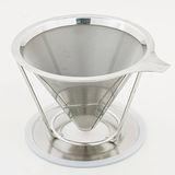 HERO 台灣精製#304不銹鋼 雙層極細網咖啡濾杯 TM-02 (2-4杯)