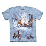 【摩達客】(預購) 美國進口The Mountain 聖誕動物群 純棉環保短袖T恤