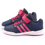 Adidas 中大童 輕量避震運動跑鞋B23901-藍粉