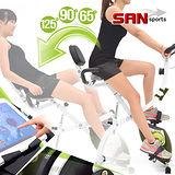 【SAN SPORTS 山司伯特】百變飛輪式磁控健身車(三種角度)C082-924 折疊臥式車腳踏車.摺疊美腿機自行車.運動健身器材
