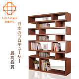 Sato-CECI橄欖樹隔間收納櫃‧幅120cm(淺棕色)