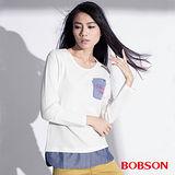 BOBSON 女款仿兩件式上衣   (35080-81)