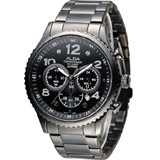 ALBA 休閒海軍風潮流腕錶 VD53-X236SD AT3953X1 黑
