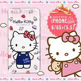 三麗鷗SANRIO正版授權 Hello Kitty iPhone 6S Plus i6S+ 5.5吋 凱蒂樂園系列 透明軟式手機殼(甜心凱蒂)