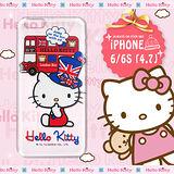 三麗鷗SANRIO正版授權 Hello Kitty iPhone 6/6S 4.7吋 凱蒂樂園系列 透明軟式手機殼(巴士凱蒂)