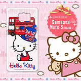 三麗鷗SANRIO正版授權 Hello Kitty Samsung Galaxy Note 5 N9208 凱蒂樂園系列 透明軟式手機殼(巴士凱蒂)