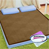KOTAS 沁涼紙纖+吸濕排汗 8cm全平面記憶床墊-單人 (藍 / 米)