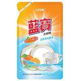 LION藍寶 洗碗精補充包800g-柑橙薄荷香