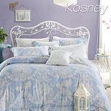 《KOSNEY 愛的華爾曼》加大100%天絲全舖棉四件式兩用被冬包組
