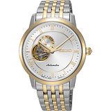 SEIKO Presage 24小時顯示開芯機械錶-銀x雙色/39mm 4R39-00M0KS(SSA272J1)